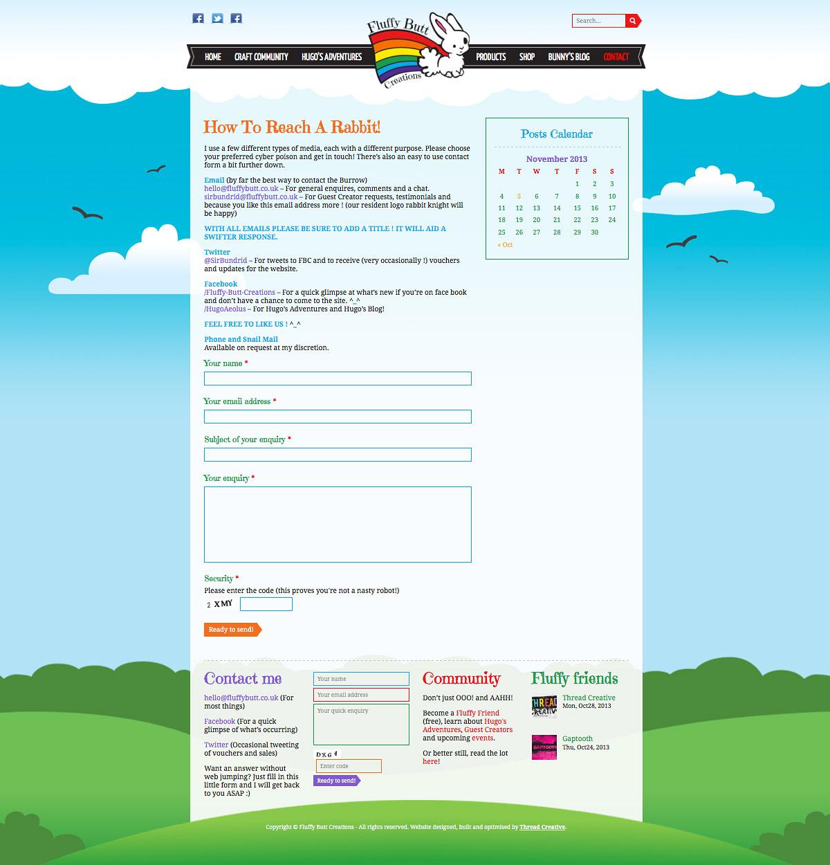 Fluffy Butt Creations WordPress Website Blog Image