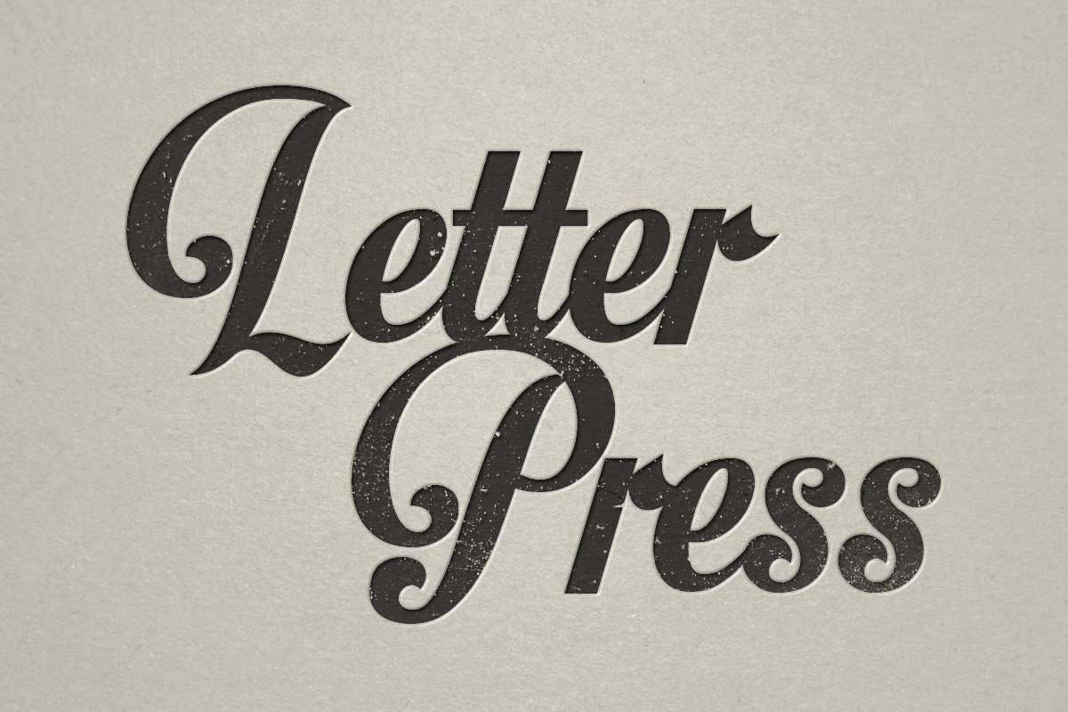 Letterpress Effect Photoshop Tutorial Blog Image