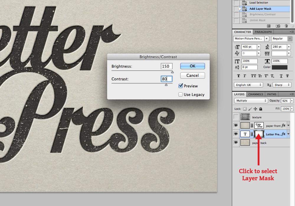 Letterpress Effect Photoshop Tutorial Blog Image