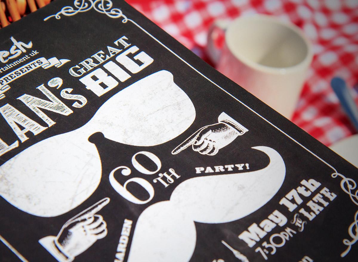 Chalkboard Effect Birthday Invitations Blog Image